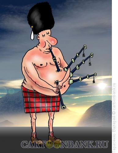 Карикатура: Волынщик, Тарасенко Валерий