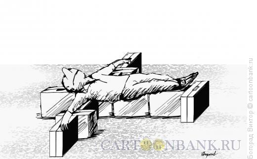 Карикатура: В ожидании взлета, Богорад Виктор