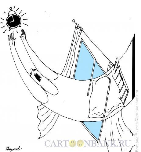 Карикатура: Бурное пробуждение, Богорад Виктор