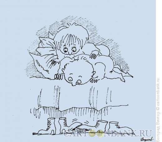 Карикатура: Ночные разборки, Богорад Виктор