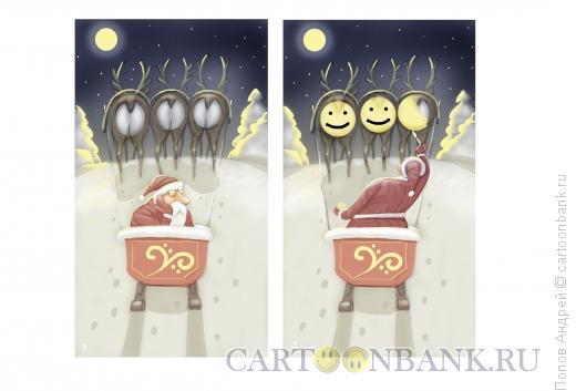 Карикатура: Санта-художник, Попов Андрей