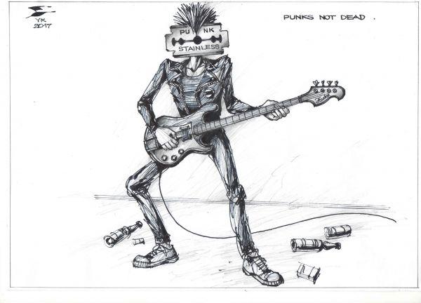 Карикатура: Punks not dead !, Юрий Косарев