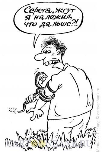 Карикатура: Основы выживания, Мельник Леонид