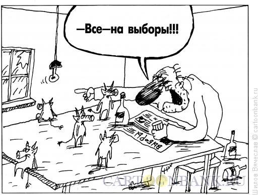 Карикатура: Выборы, Шилов Вячеслав