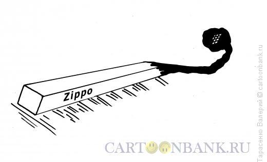 Карикатура: Фирменная спичка, Тарасенко Валерий