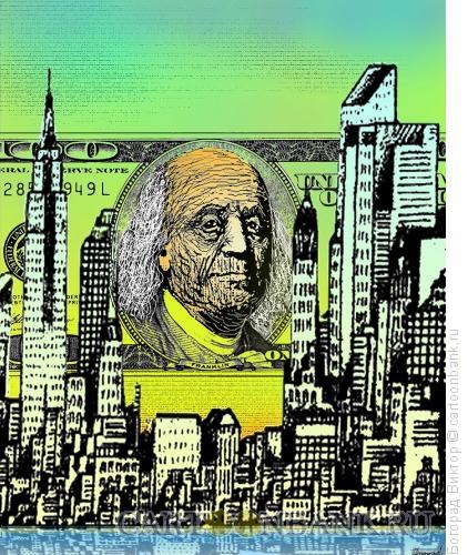 Карикатура: Старый доллар, Богорад Виктор