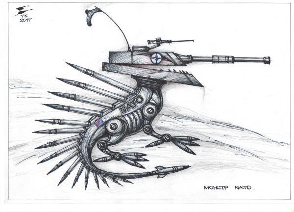 Карикатура: Монстр NATO ., Юрий Косарев
