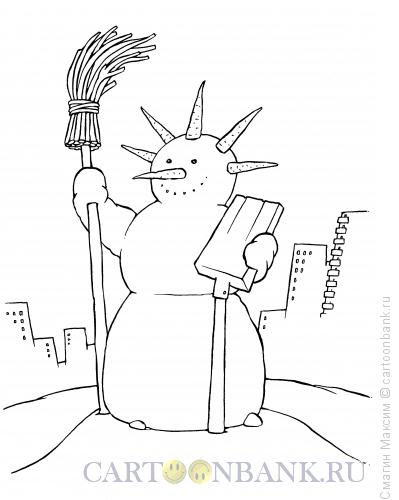 Карикатура: Снеговик свободы, Смагин Максим