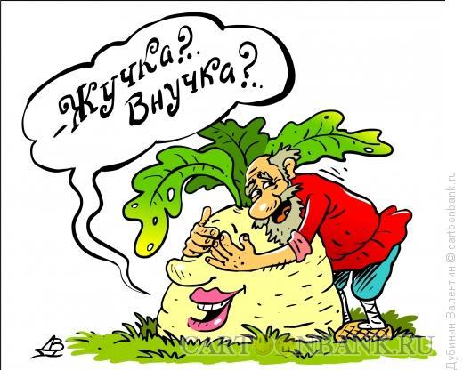 Карикатура: Репка гадает, Дубинин Валентин