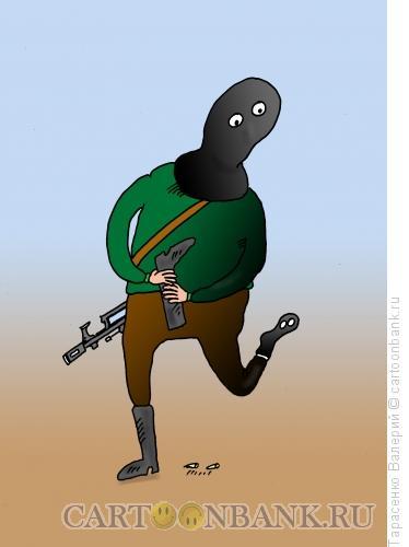 Карикатура: Пулепробиваемый носок, Тарасенко Валерий