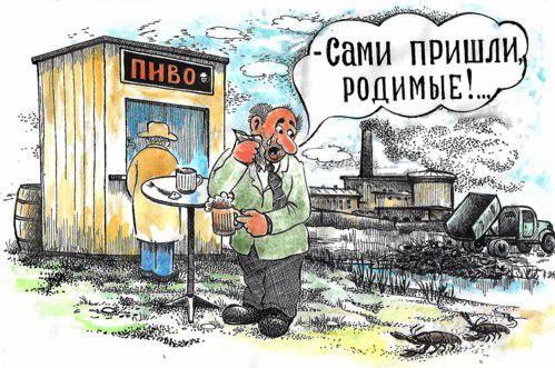 Карикатура: Сами пришли, Зеркаль Николай Фомич