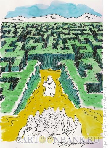 Карикатура: песах-море, Эренбург Борис