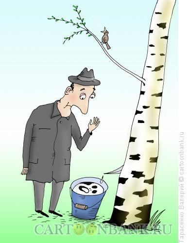 Карикатура: Отражение, Тарасенко Валерий