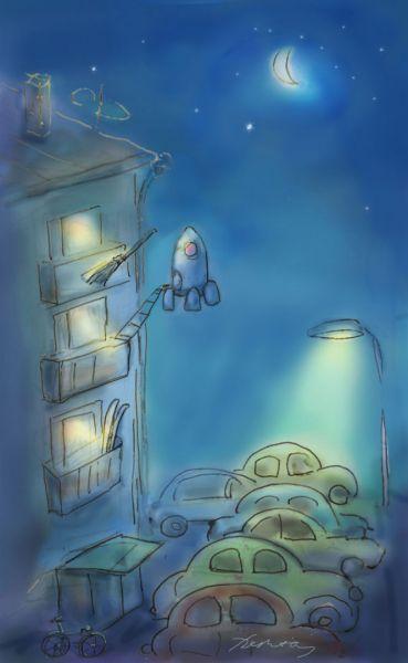 Карикатура: Утром на работу., Perpeta