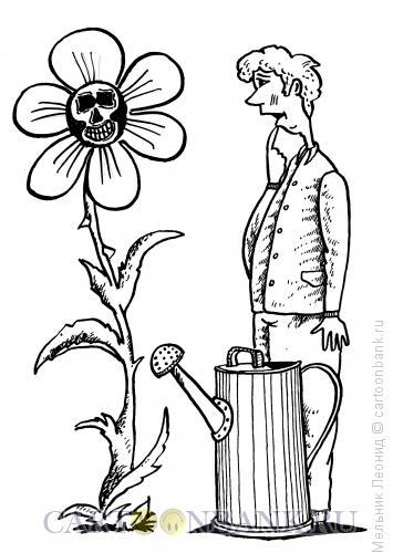 Карикатура: Жуткое растение, Мельник Леонид