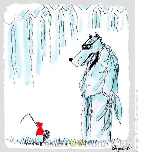 Карикатура: Красная шапочка и волк, Богорад Виктор