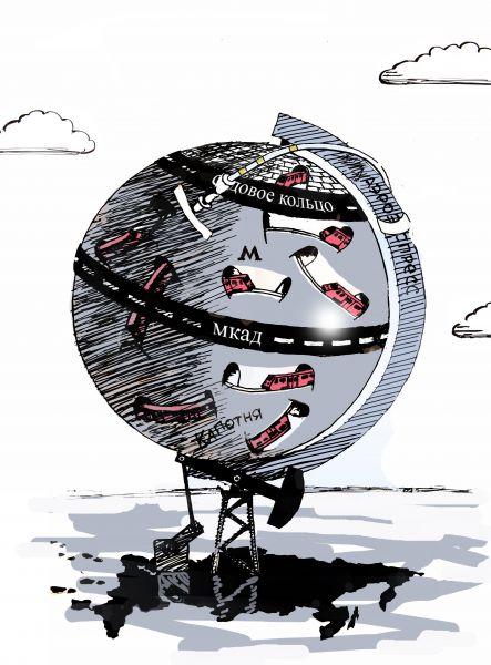 Карикатура: Глобус Москвы, osipovva