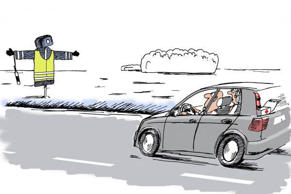 Карикатура: Пугало дорожное, osipovva
