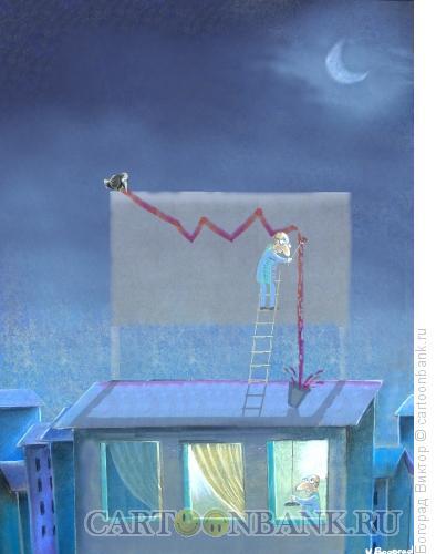 Карикатура: Бессонница во время кризиса, Богорад Виктор
