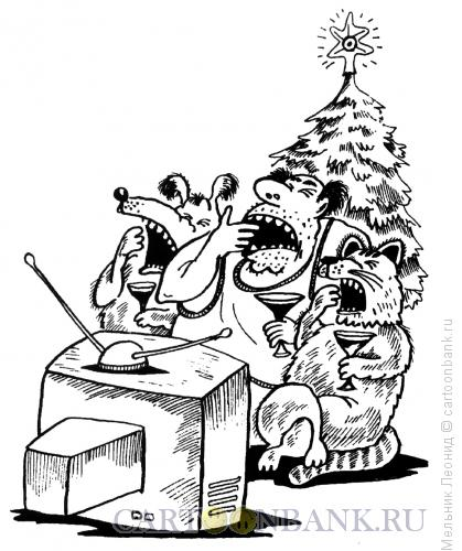 Карикатура: Скукотищщща!, Мельник Леонид