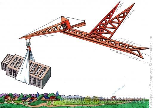 Карикатура: строительство, Семеренко Владимир
