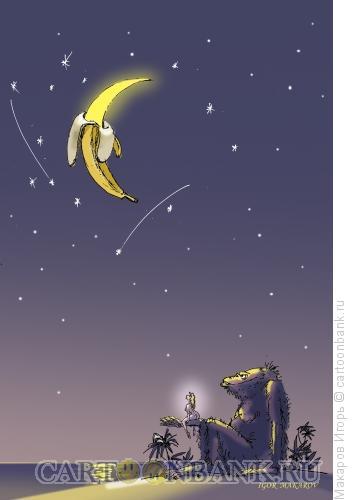 Карикатура: кинг конг и луна., Макаров Игорь