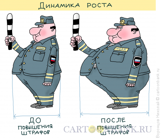 Карикатура: Штрафы, Воронцов Николай