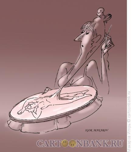 Карикатура: вышивка гладью, Макаров Игорь