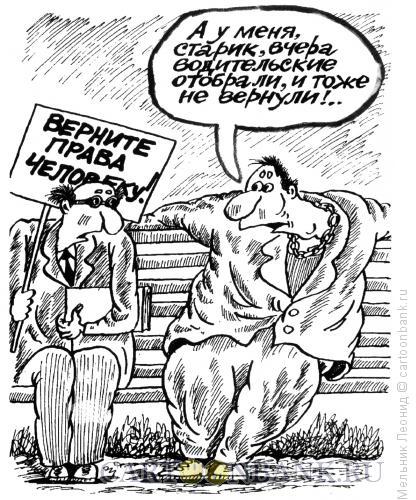 Карикатура: Разные права, Мельник Леонид
