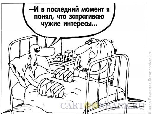 Карикатура: Чужие интересы, Шилов Вячеслав