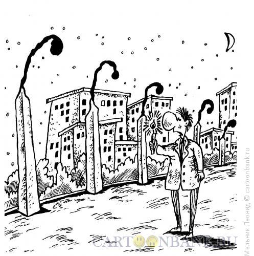Карикатура: Света нет, Мельник Леонид