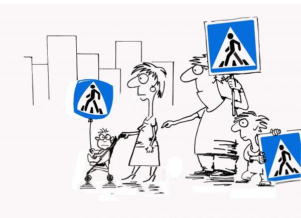 Карикатура: Прогулка в мегаполисе, osipovva