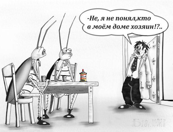 Карикатура: Про хозяина, БАД