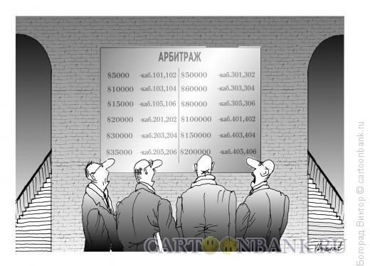 Карикатура: Указатель кабинетов, Богорад Виктор