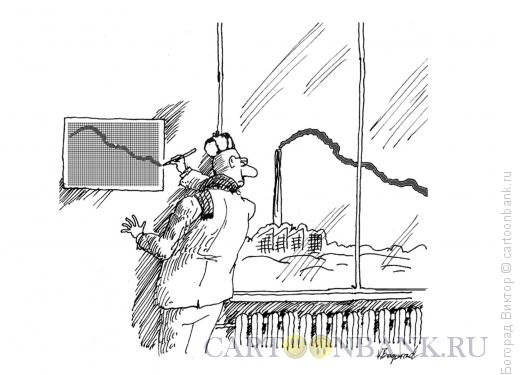 Карикатура: Точный график, Богорад Виктор