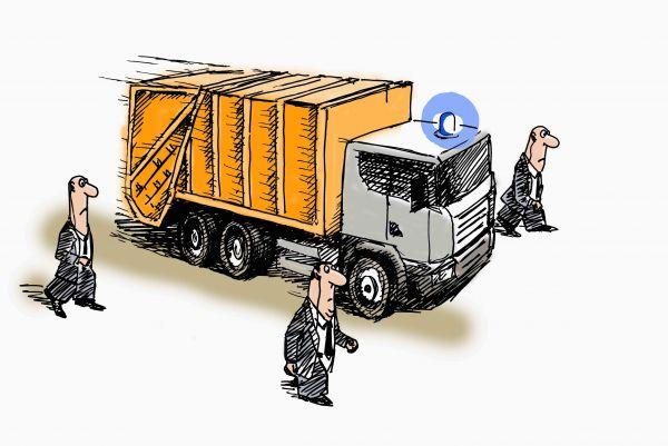Карикатура: На мусорный полигон, osipovva