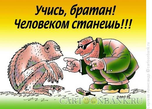 Карикатура: Два братана, Сергеев Александр