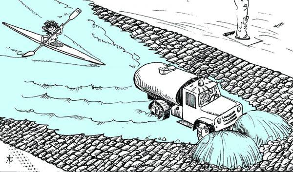 Карикатура: Всегда есть выход !!!, Юрий Санников