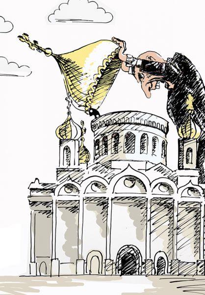 Карикатура: Толерантный атеист