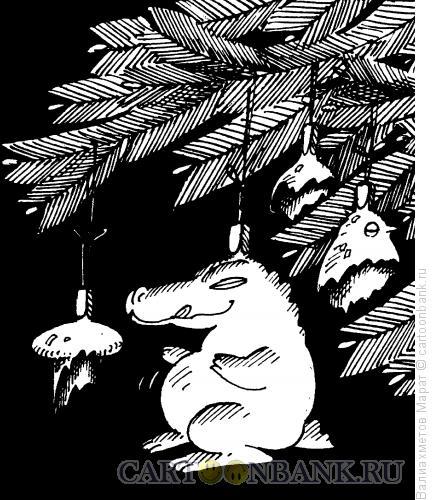 Карикатура: Елочные игрушки, Валиахметов Марат