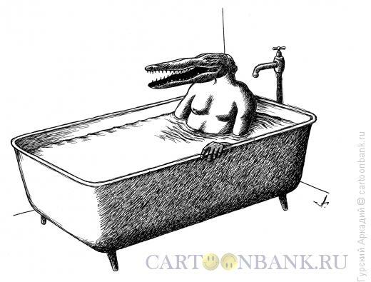 Карикатура: маска крокодила, Гурский Аркадий