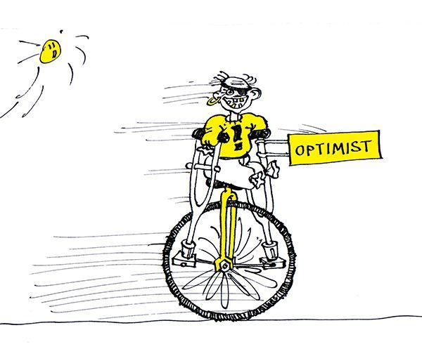 Карикатура: Оптимист, Юрий Санников