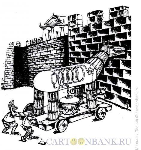 Карикатура: Троянский самогон, Мельник Леонид