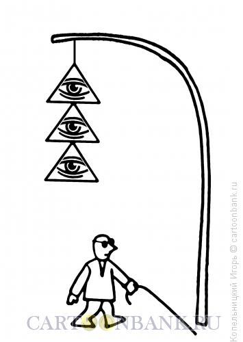 Карикатура: слепой, Копельницкий Игорь