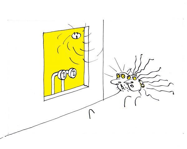 Карикатура: Всюду глаза и уши, Юрий Санников
