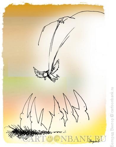 Карикатура: Гибель Икара, Богорад Виктор