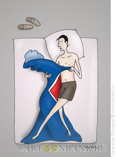 Карикатура: Ночное танго, Тарасенко Валерий