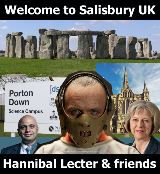 Карикатура: Welcome to Salisbury UK. Добро пожаловать в Солсбери, Великобритания, Вась
