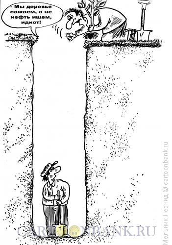 Карикатура: Идиотская посадка, Мельник Леонид