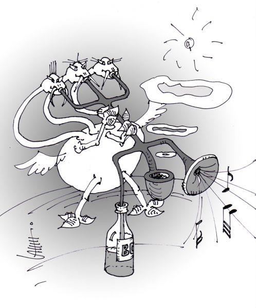 Карикатура: Драконий кайф, Юрий Санников